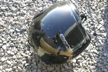 Reflection sur le casque.